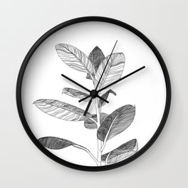 Line Plant Wall Clock