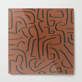 Calligraffiti Slim | Rust + Iron Metal Print