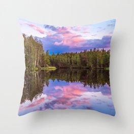 Sunset after summer rain Throw Pillow