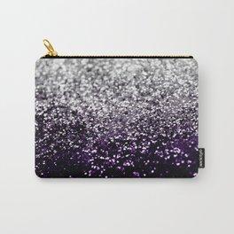Dark Night Purple Black Silver Glitter #1 #shiny #decor #art #society6 Carry-All Pouch