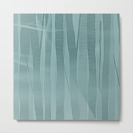 Woodland - Minimal Birch Forest Landscape Metal Print