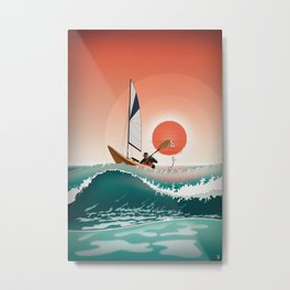 Sea Kayaking Metal Print
