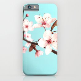 Baby Pink Spring Flowers iPhone Case