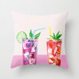 Summer Cocktails 8 Throw Pillow