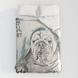 Cheer phrases with dog illustrations Comforters