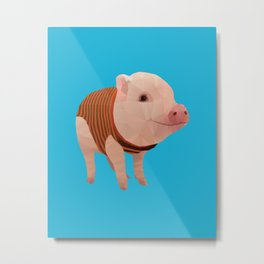 Pumpernickel the Minipig polygon art Metal Print
