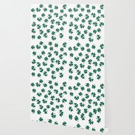 Retro Vintage St Patricks Day Green Shamrock Clover Wallpaper