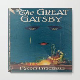 The Great Gatsby vintage book cover - Fitzgerald - muted tones Metal Print