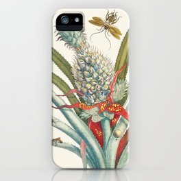 Vintage Pineapple Botanical Print iPhone Case