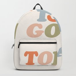 TODAY IS A GOOD DAY peach pink green blue yellow motivational typography inspirational quote decor Backpack