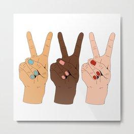 Peace Hands 3 Metal Print