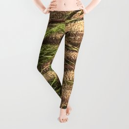 Reeds Blowing In the Pond Fine Art Photo Leggings