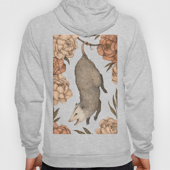 The Opossum and Peonies Hoodie