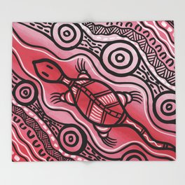 Authentic Aboriginal Art - Lizard Throw Blanket
