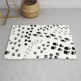 Flat Design Monochrome Seamless Rug