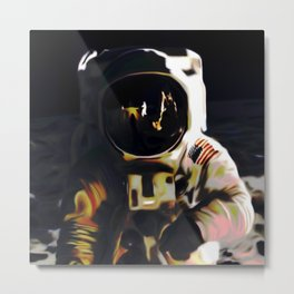 Mr Moon Metal Print