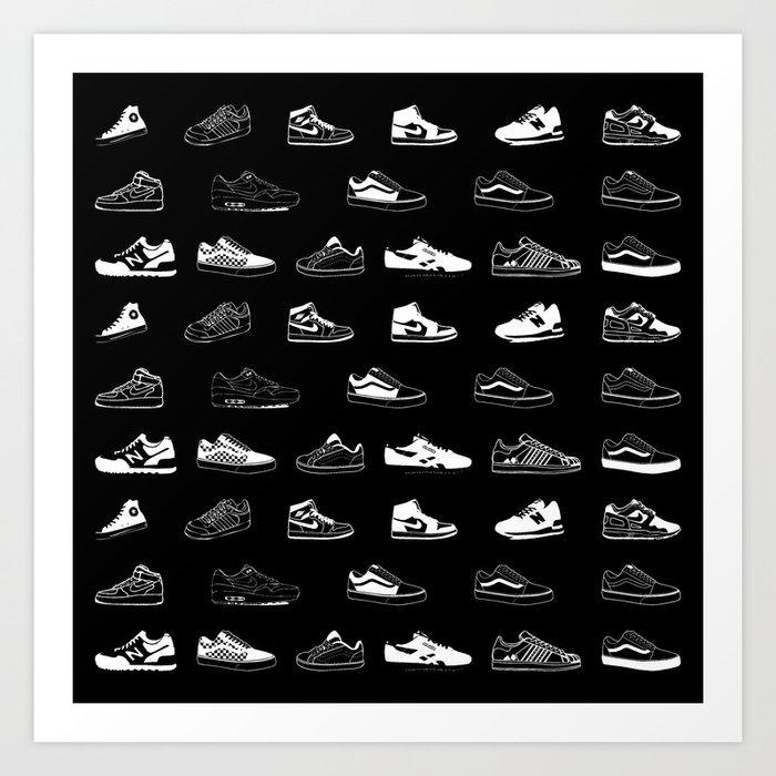 Black Sneaker Kunstdrucke
