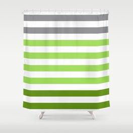 Stripes Gradient - Green Shower Curtain