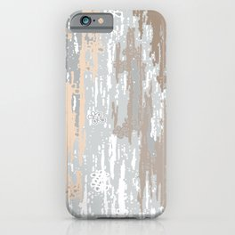 Grey brown Colors Gradient pattern.  light-grey, modern, decor, Society6 iPhone Case