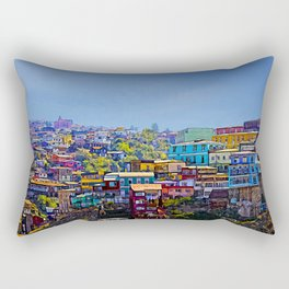 Cerro Artilleria, Valparaiso, Chile Rectangular Pillow