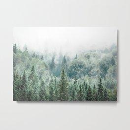 Forest Print, Woodland Print, Modern Landscape Decor Metal Print