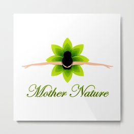 Mother nature dancing- World earth day- environment day Metal Print