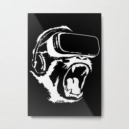 VR Gorilla Metal Print