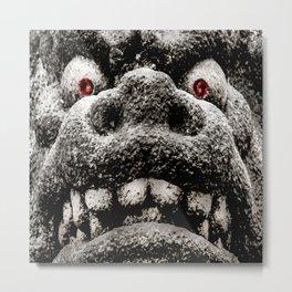 Monster Sculpture Extreme Close Up Illustration Metal Print