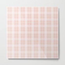 Spring 2017 Designer Color Pale Pink Dogwood Tartan Plaid Check Metal Print