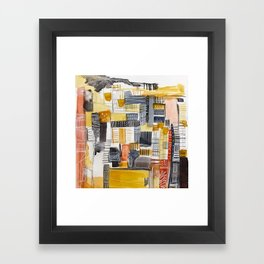 Autumn Rituals Abstract Painting Framed Art Print