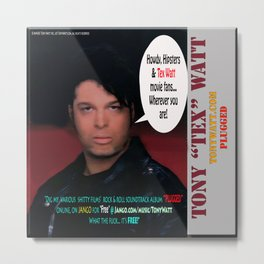 "The Tony 'Tex' Watt Jango Radio ""Plugged"" Album Poster Metal Print"