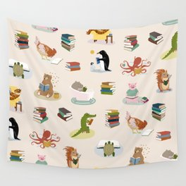 Animal Readers Wall Tapestry