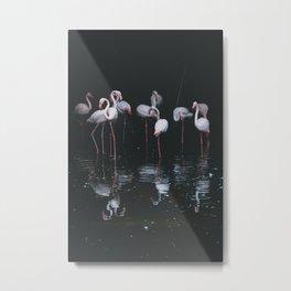 flamingos #society6 #decor #buyart Metal Print