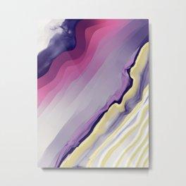 Purple Agate Metal Print