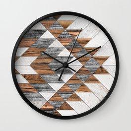 Urban Tribal Pattern No.12 - Aztec - Wood Wall Clock