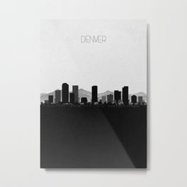 City Skylines: Denver Metal Print