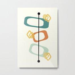 Mid Century Modern Shapes 02 Metal Print