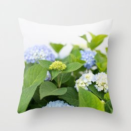 Blooming Hydrangeas Throw Pillow