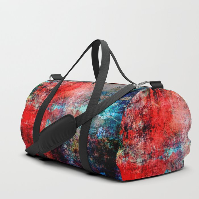Modern  Red Abstract Design Duffle Bag