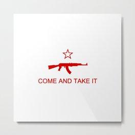 Come and Take It AK47 Red Metal Print