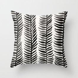 Black Seaweed Throw Pillow