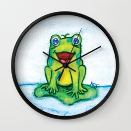 Happy Frog - Watercolor Wall Clock
