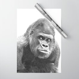 Black and White Gorilla Wrapping Paper