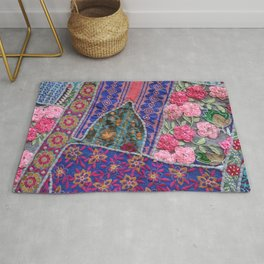 India Patchwork graphic violet Rug