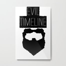Evil Timeline Metal Print
