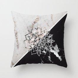Yin Yang Mandala on Marble #1 #decor #art #society6 Throw Pillow