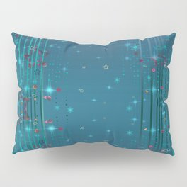 Magic fairy abstract shiny background with stars Pillow Sham