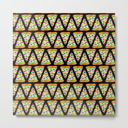 Rainbow Pizzas (Zigzag/Stripes)! Metal Print