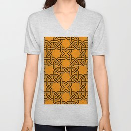 Entwined graphic Lines Home Design - orange Unisex V-Neck