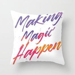 Magic Happen can spell Throw Pillow
